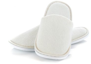 white house slipper isolated over white background